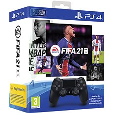 Gamepad Sony PS4 Dualshock 4 V2 - Black + FIFA 21