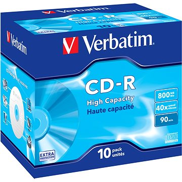 Média Verbatim CD-R DataLife Protection 40x, 10ks v krabičce
