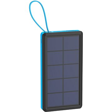 PowerBank XLAYER Powerbank PLUS Solar 10000mAh čierna / modrá