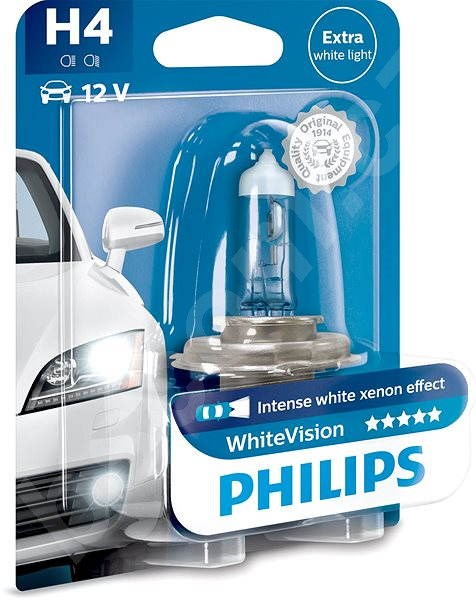 Autožárovka PHILIPS  H4 WhiteVision 60/55W, patice P43t-38