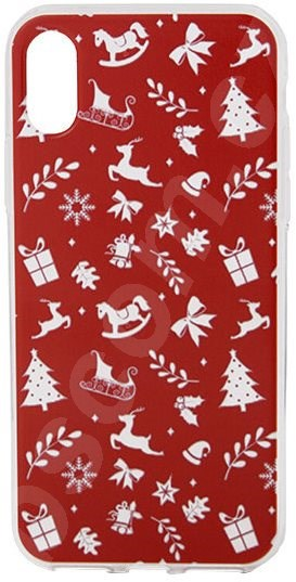 Kryt na mobil Epico RED XMAS pro iPhone X