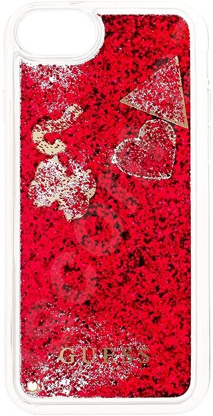 Kryt na mobil Guess New Glitter Hearts pro iPhone 8 Rapsberry