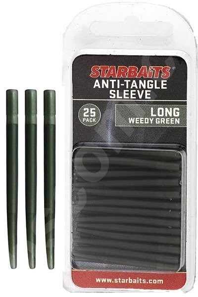 Prevlek Starbaits Anti Tangle Sleeve Long 4cm Zelený 25ks