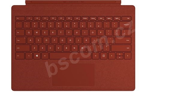 Klávesnica Microsoft Surface Pro Type Cover Poppy Red ENG