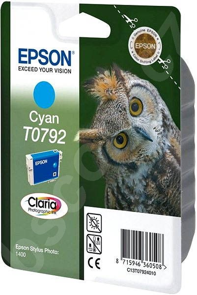 Cartridge Epson T0792 azurová